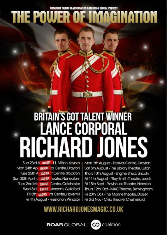 Britain's Got Talent Winner Richard Jones, Power of Imagination Tour | Friday 20 October