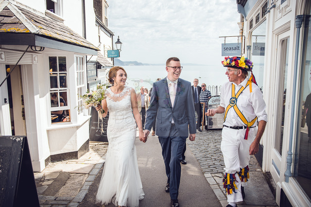 wedding in lyme regis